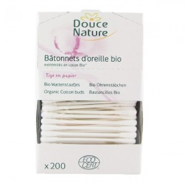 Lot de 200 Coton-Tiges Biologique
