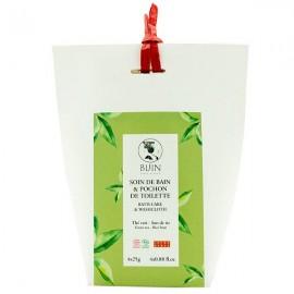 4 pochons pour Infusion de Bain Bio (Soin bien-être) au thé vert et son de riz - Bijin