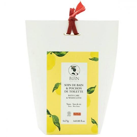 Agrémenter votre bain avec cette infusion bio au yuzu et son de riz Bijin.
