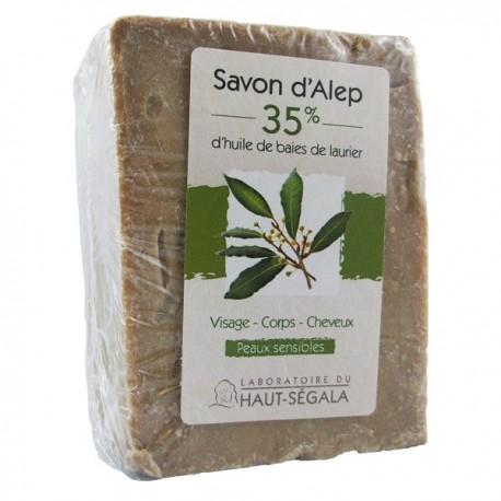 Savon d'Alep 35% - Peaux sèches et sensibles. Véritable savon d'Alep provenant de Syrie.