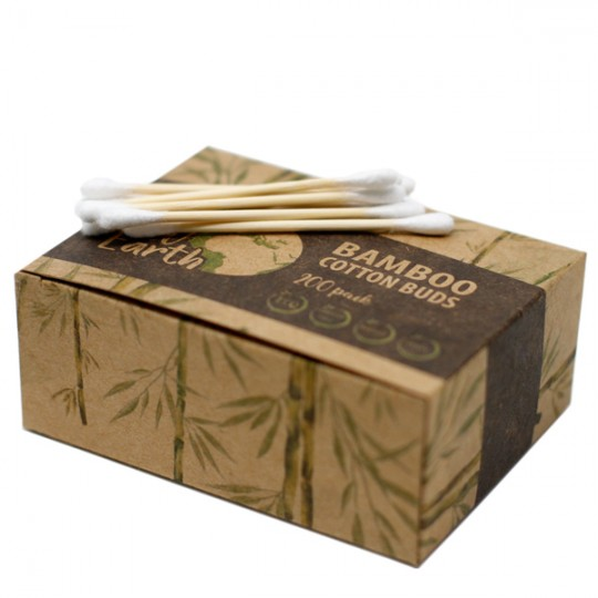 Bâtonnets ouatés Biodégradables en Bambou et Coton x200