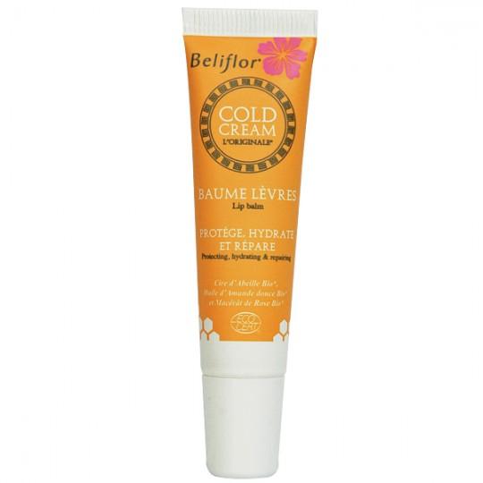 Baume à lèvres au Cold Cream Bio Beliflor - Protège, hydrate et répare les lèvres abîmées.