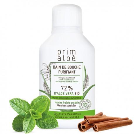 Bain de Bouche Purifiant Bio 250ml - 72% d'Aloe Vera