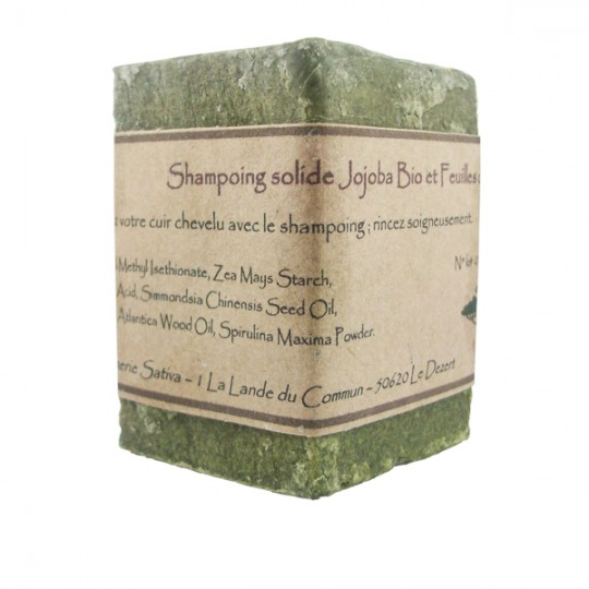 Shampoing solide Cheveux Gras 55 gr - Ortie Bio et Spiruline