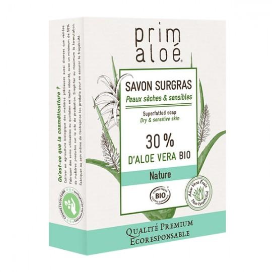 Savon Surgras 30% Aloe Vera 100g - Peaux sèches et sensibles PRIM ALOE