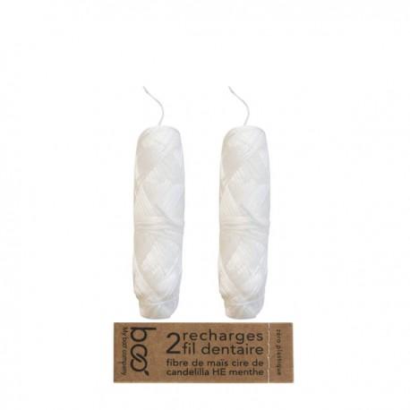 Recharge Fil dentaire 100% fibre végétale - 2 Bobines