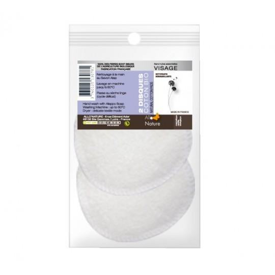 Disques à démaquiller et à nettoyer réutilisables - Coton Bio