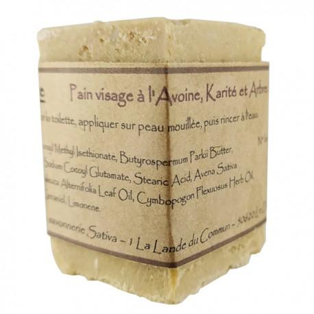 Pain visage sans savon au Tea tree - Idéal en cas de boutons d'acné et d'imperfections
