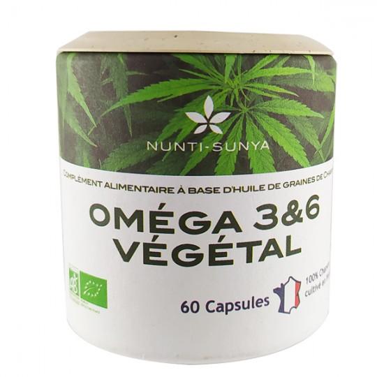 Oméga 3 & 6 (60 capsules) à base d'huile de chanvre Bio