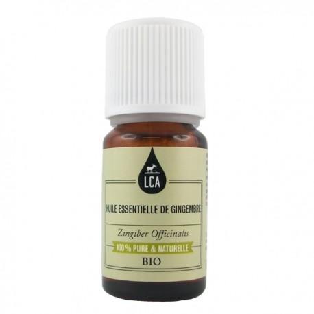 Huile essentielle bio de Gingembre - connue pour ses vertus digestives et toniques sexuelles.