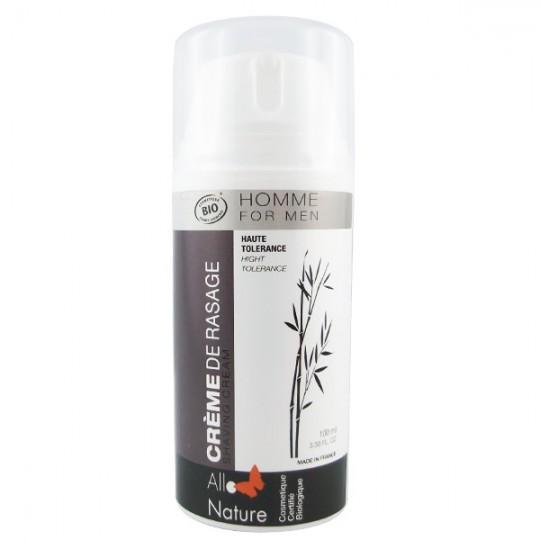 Crème de rasage homme 100 ml - Haute Tolérance Sans irritation glisse parfaite facile à appliquer