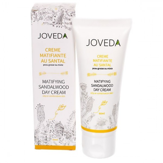Crème Matifiante au Santal 60 ml - Rééquilibre et limite la brillance - JOVEDA