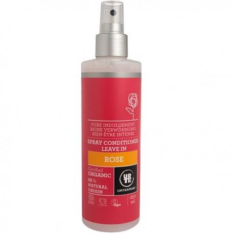 Spray Après-Shampoing à la Rose de Damas 250 ml - Adoucissant - Urtekram