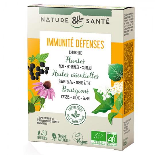 Synergie Végétale Immunité Défenses 30 gélules Bioconseils Complexe de plantes, huiles essentielles et de bourgeons