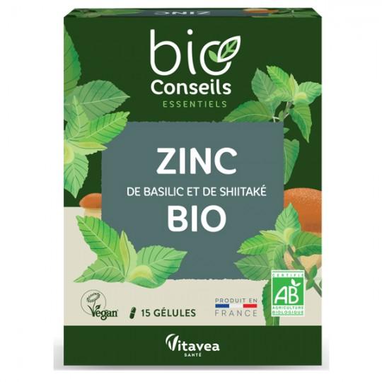 Zinc Bio 15 gélules - Issu de Basilic et de Shiitaké