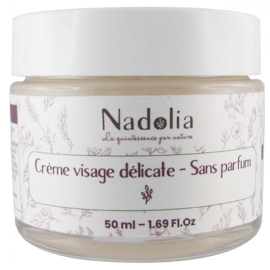 Crème visage délicate neutre 50 ml - Sans parfum Nadolia