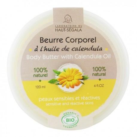 Beurre corporel à l'huile de calendula 120 ml - Peaux sensibles et réactives