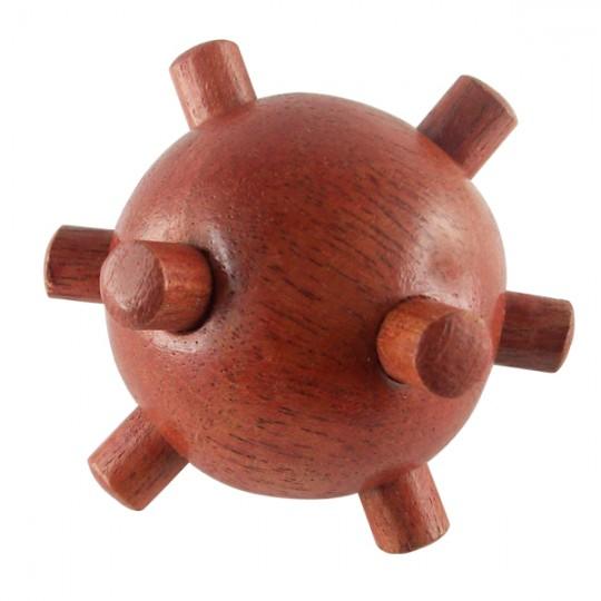 Boule à picots en bois pour les mains
