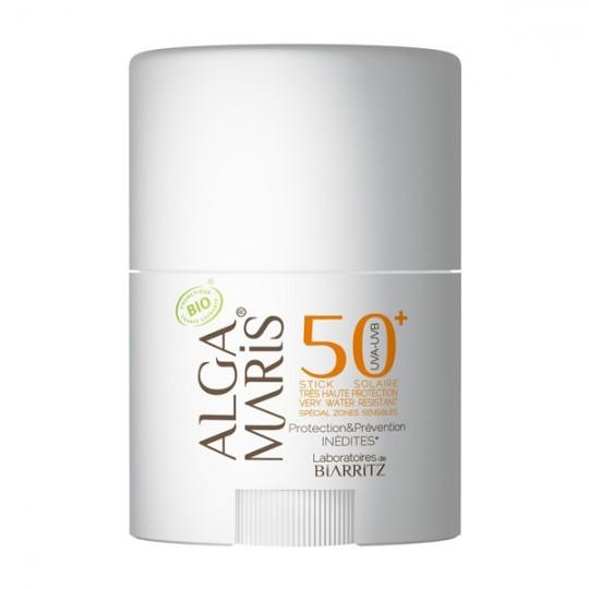 Stick Solaire Haute Protection 50+ - Zones Sensibles - Idéal pour protéger les zones du visage couperose nez rosacée