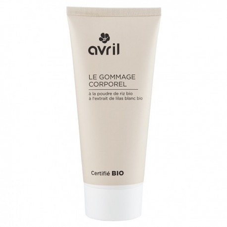 Gommage Corps 200ml - Avril Maquillage Bio Gommage Poudre de Riz Lilas Blanc