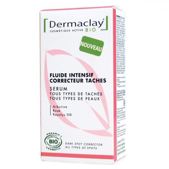 Fluide Intensif Concentré 30ml - Correcteur Taches - Nouveauté Dermaclay Contre les taches brunes Visage et cou