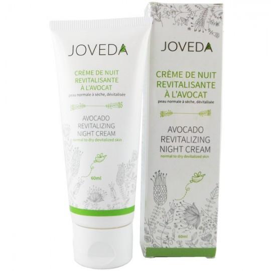Crème de Nuit à l'Avocat 60 ml - Peaux normales à sèches - Joveda Crème de nuit pour les peau fatiguée et perte de fermeté