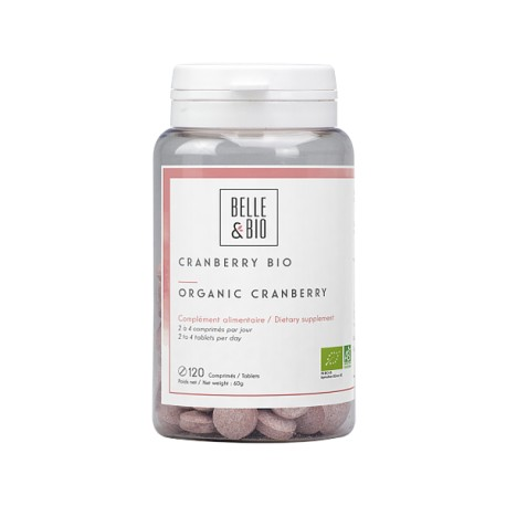Cranberry BIO en comprimés contre les infections urinaires.