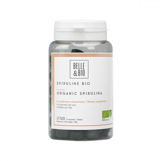 Spiruline Bio 120 comprimés - Forme, Vitalité