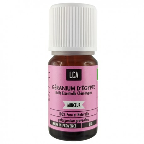 Huile essentielle de Géranium Bio - Rosat Égypte