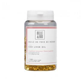 Huile de Foie de Morue 120 capsules - Source de vitamine