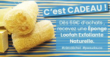 CADEAU : Éponge Loofah Exfoliante Naturelle - 10 cm