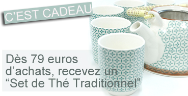 CADEAU 10 ANS : Set de Thé Traditionnel - Mosaique Verte